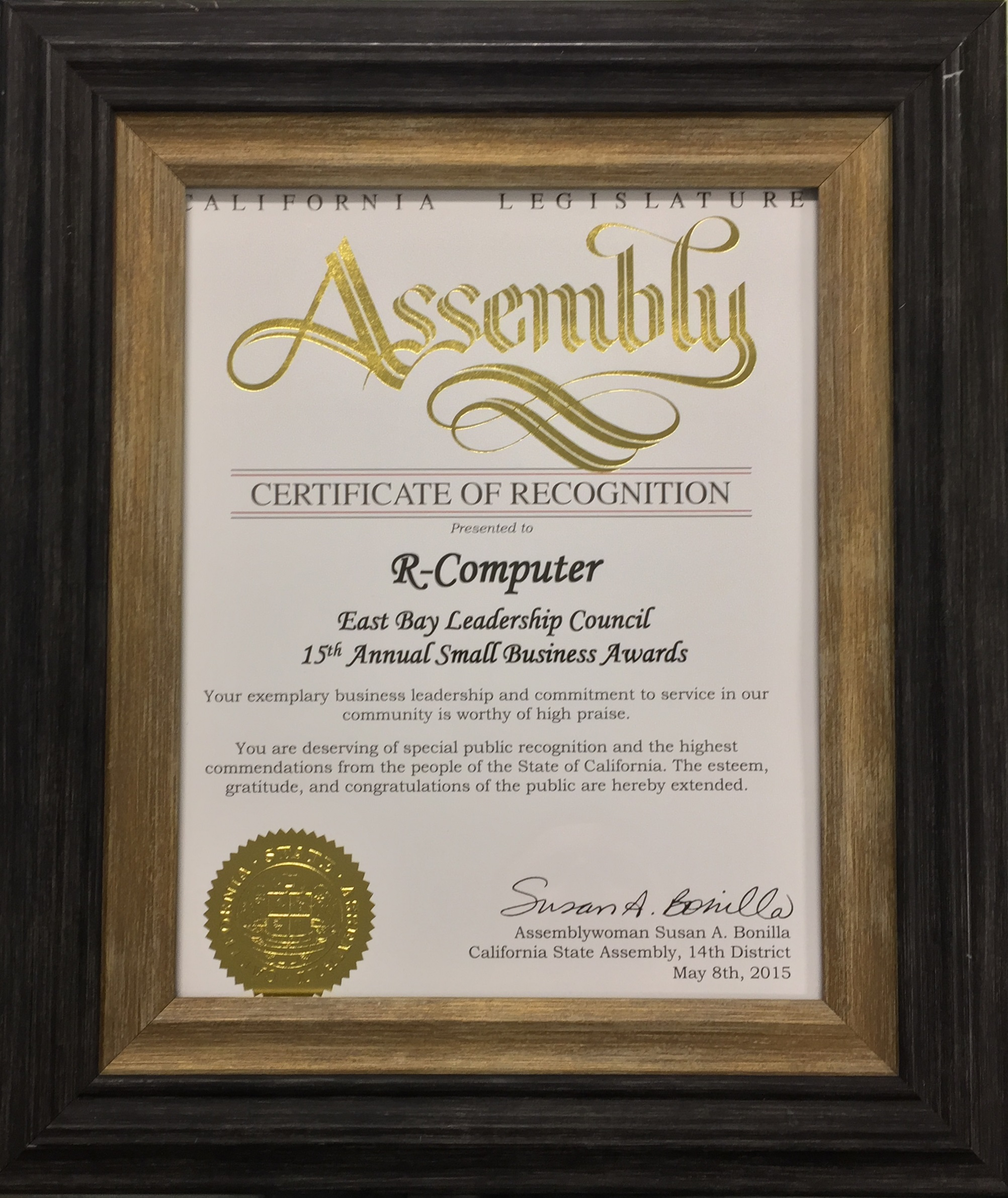 R-Computer Concord California, Awards, IT Services, Computer Notebook Repair, Managed Services Provider in Concord, CA